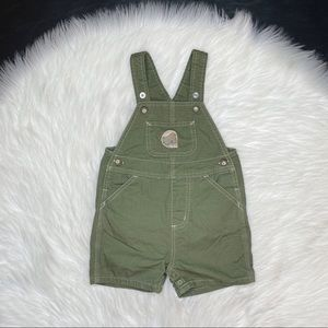 Carhartt Infant Overalls Green Snap Button 24 M